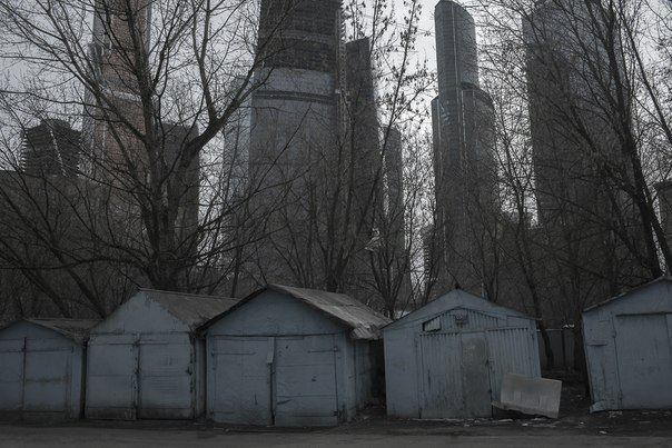 Не так просто опознать на этой фотографии деловой центр «Москва-Сити».