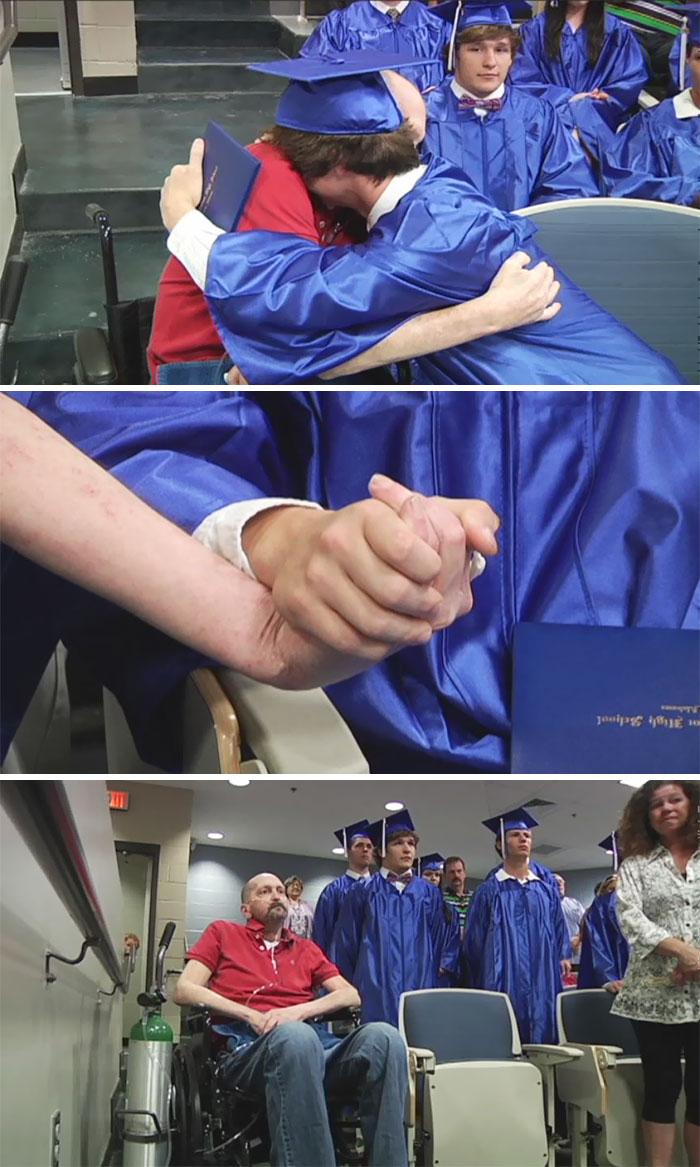 Последним желанием этого умирающего отца было увидеть выпускной сына в вузе.