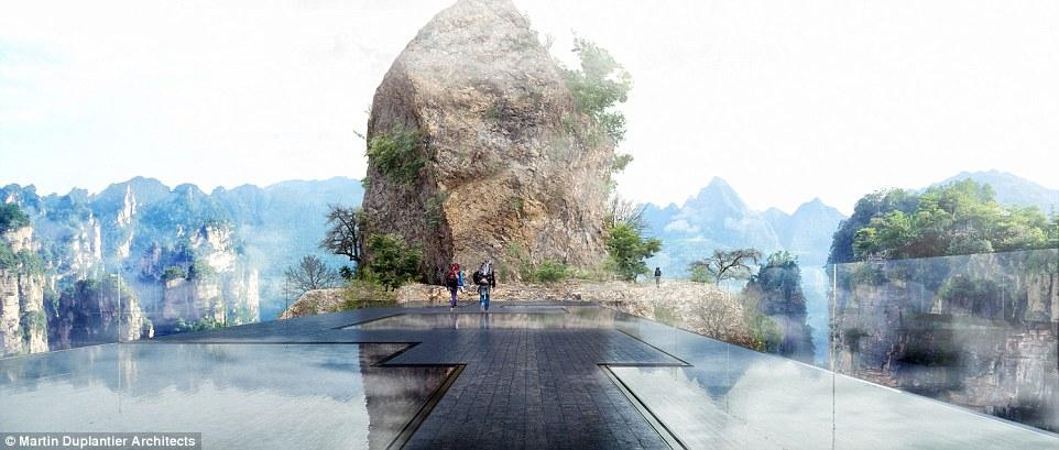 Согласно задумке, это впечатляющее архитектурное сооружение будет отражать окружающие пейзажи, благо