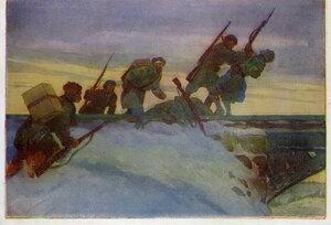 1944. Нападение ленинградский партизан на немецкую охрану железнодорожного моста