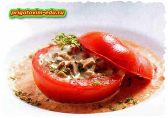 Помидоры с лисичками в томатном соусе