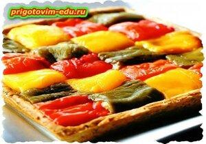 Пирог с болгарским перцем и творогом