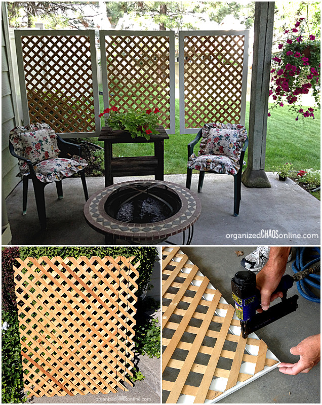 10 diy patio privacy screen projects free plan 13 pics for Privacy screen ideas for backyard