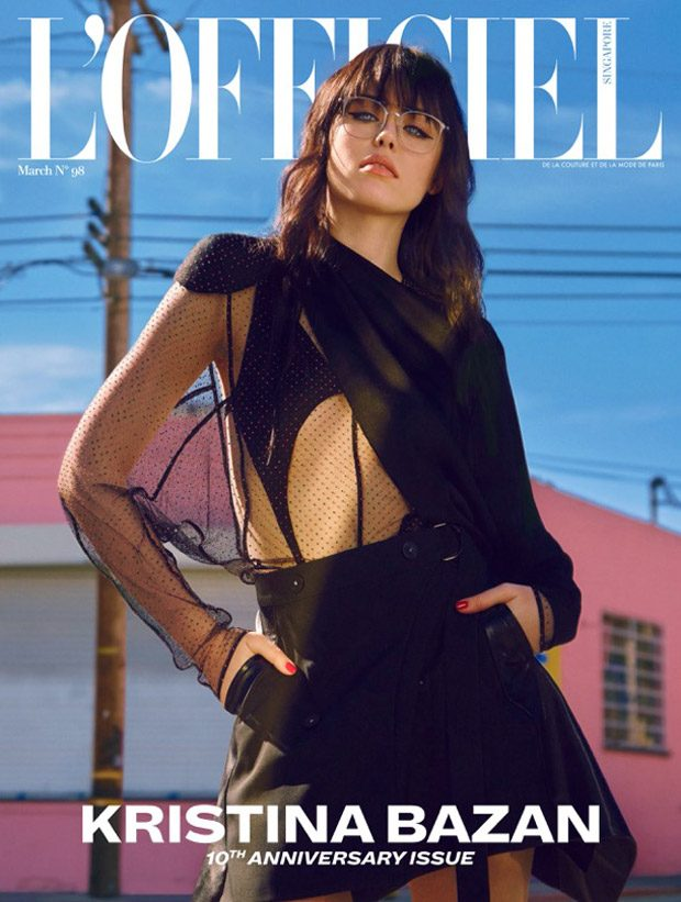 Kristina Bazan Stars in L'Officiel Singapore March 2017 Cover Story