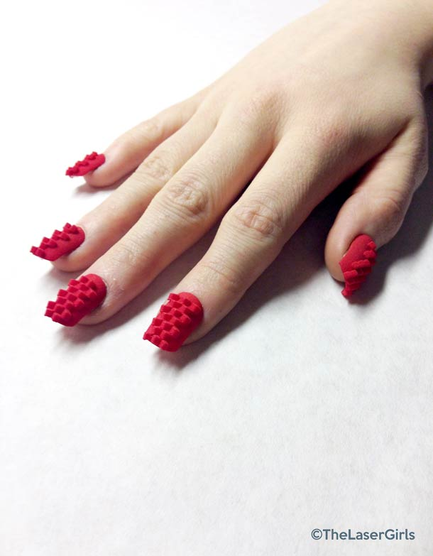 TheLaserGirls – 3D printed nail art and jewelry! (14 pics)