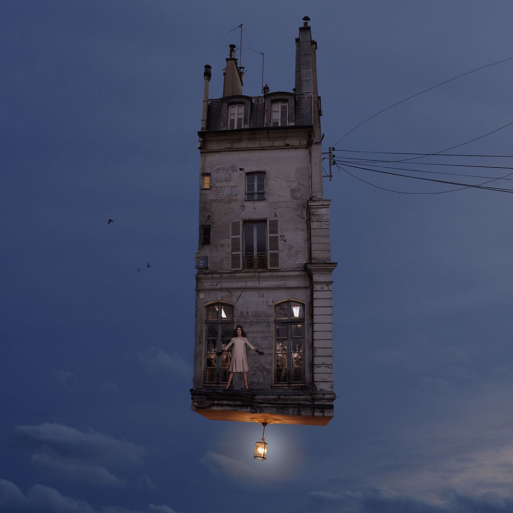 New Flying Houses Hover Above Paris by Laurent Chehere