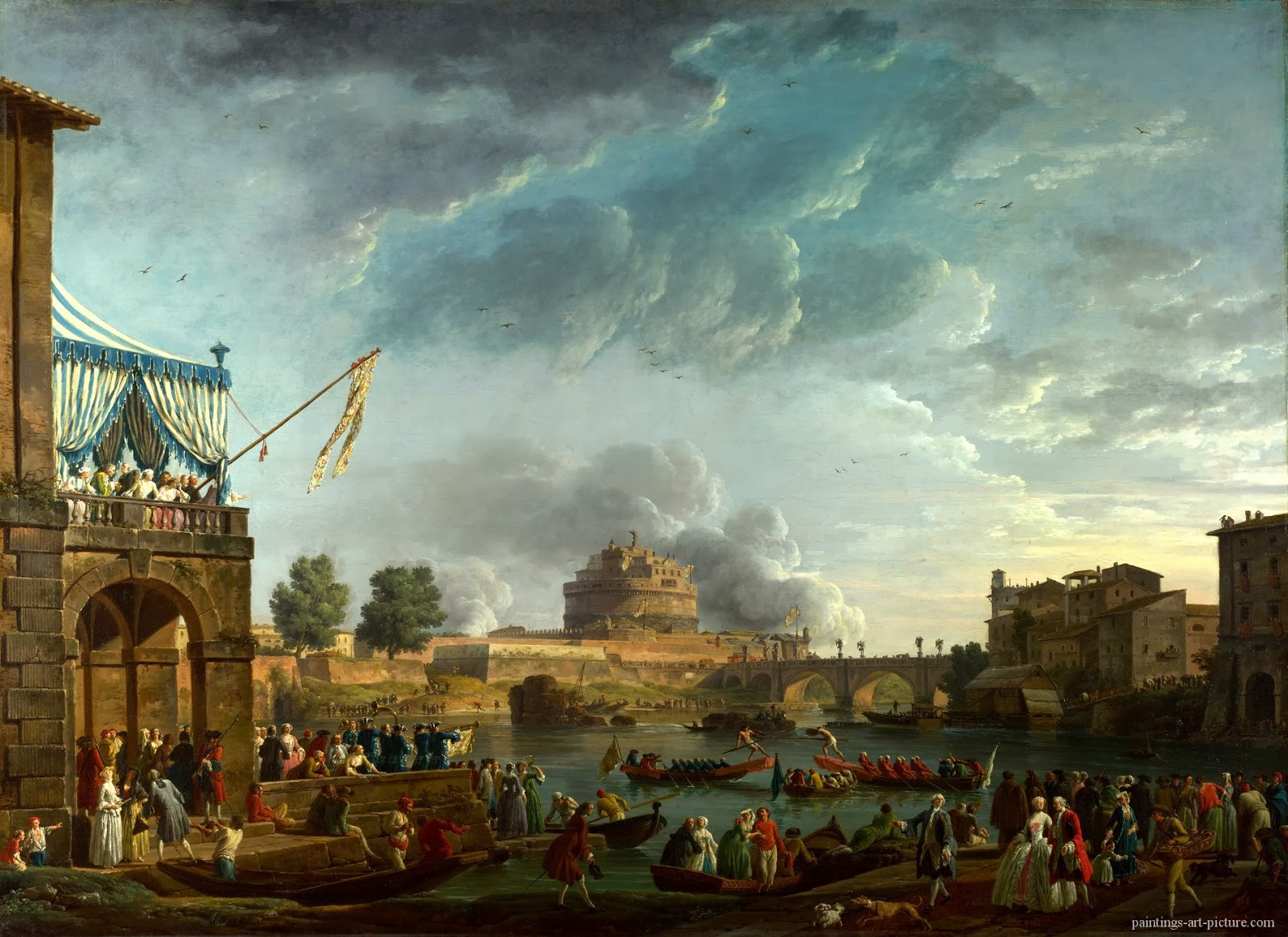 1 VERNET-Claude-Joseph-A-Sporting-Contest-on-the-Tiber-at-Rome.jpg
