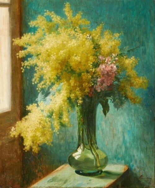 Émile Vernon (1872-1919) - Still life with mimosa,.jpg