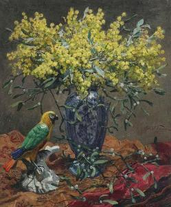 Oswald Poreau - Still Life With Mimosa.jpg