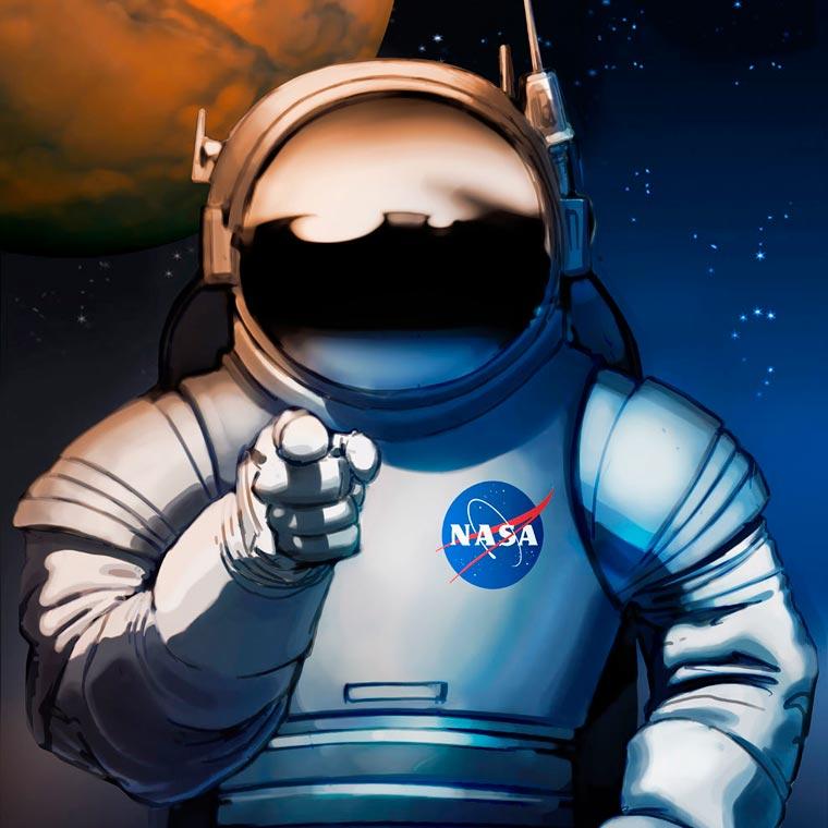 NASA lanca serie de cartazes, o objetivo e recrutar humanos para missao em Marte