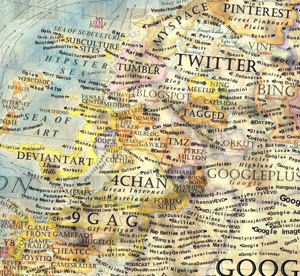 Map of the Internet – Quand un artiste dresse une carte incroyable de l'Internet en 2013 (8 pics)