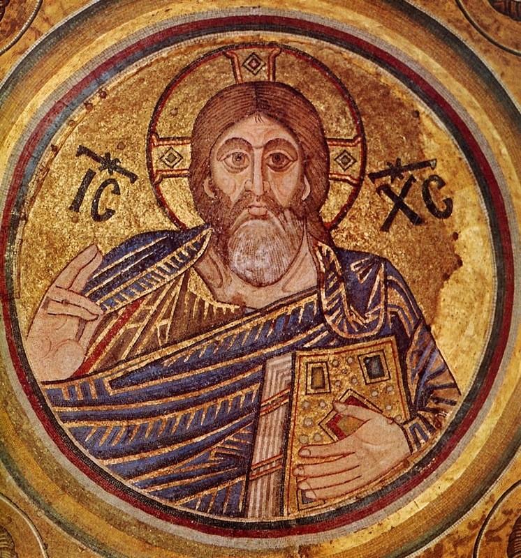 Мозаика «Христос Вседержитель» (Христос-Пантократор), главный купол Софийского собора