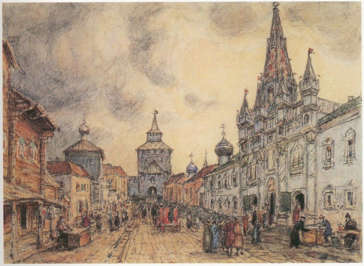 Никольская улица в конце XVII века (вид с северо-востока)..jpg