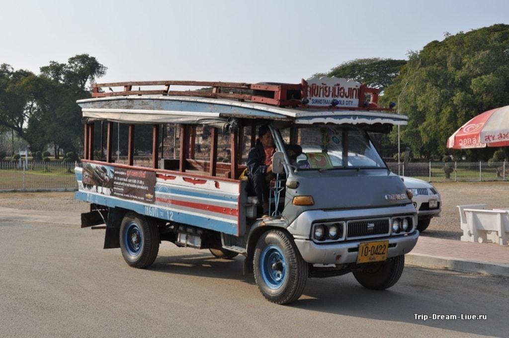 Автобус Сукхотай - Старый город
