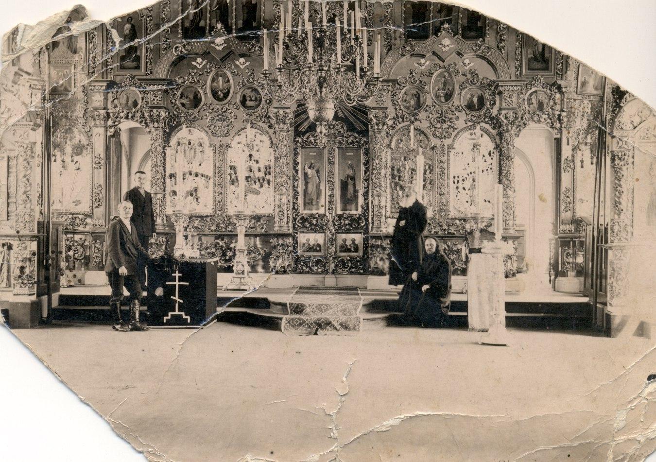 Введенская церковь. Иконостас, 1917