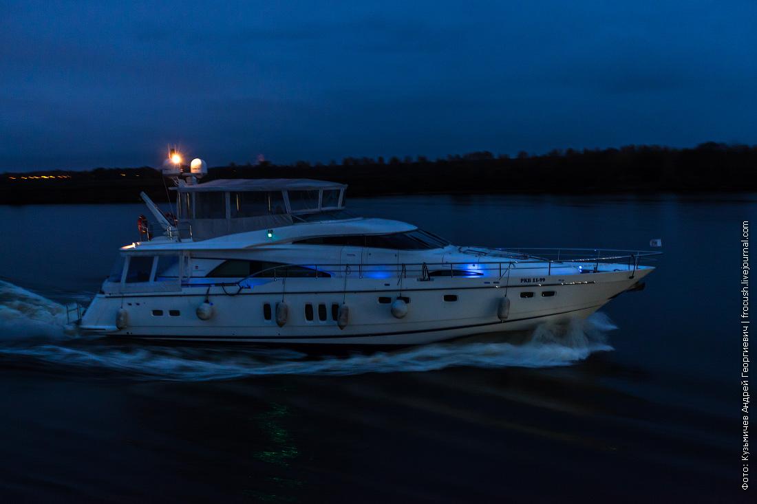 яхта на Волге ночное фото