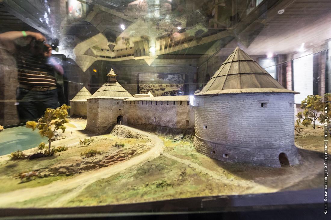 Макет Староладожской крепости