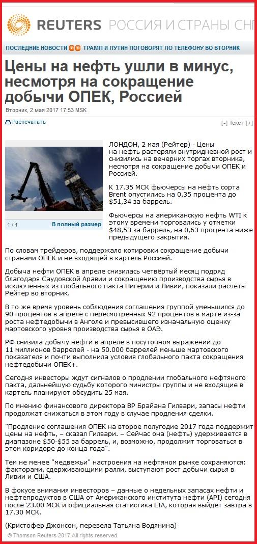 Reuters. Низкие цены нефть и лживый, сексот-эксперт Саид Гафуров