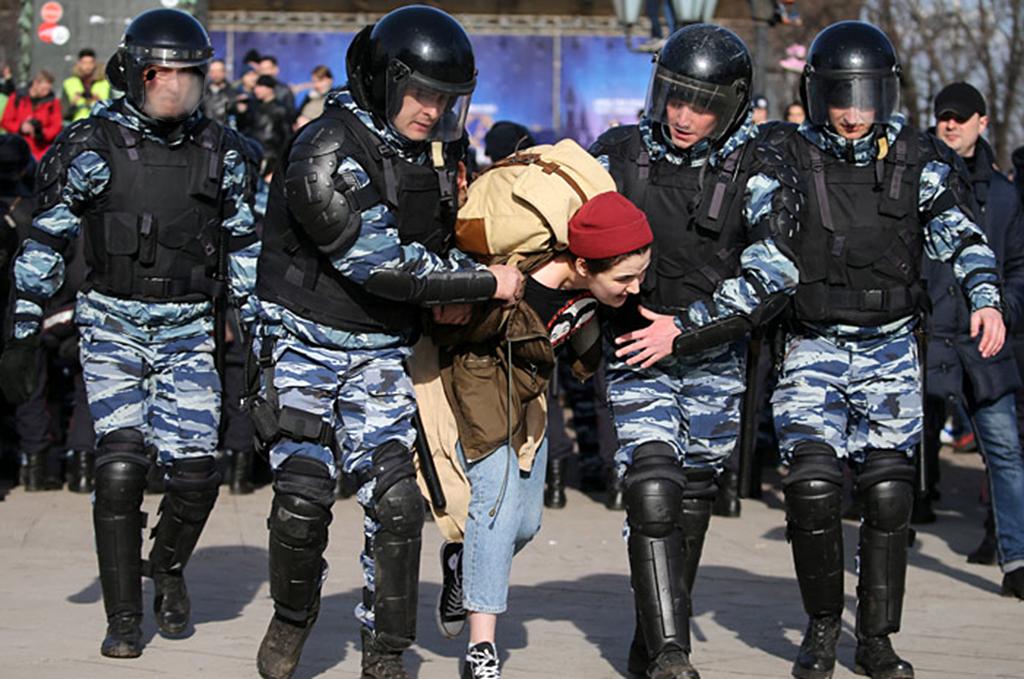 В Москве задержаны больше тысячи человек
