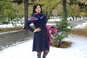 Платье голубые дали осинка