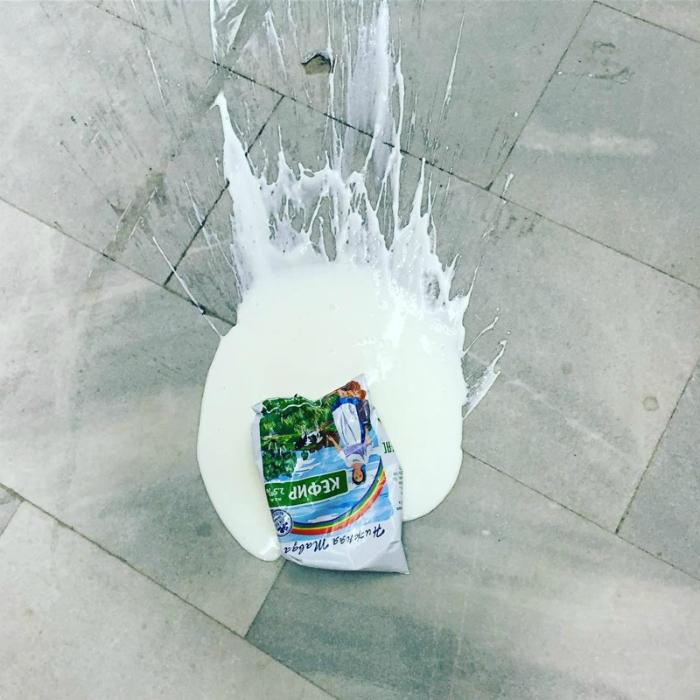 Кефирная маска для асфальта. 6.