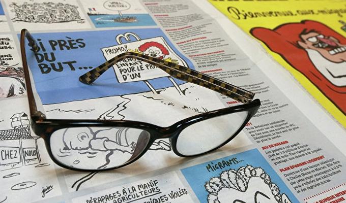 Charlie Hebdo сделал карикатуру на храм РПЦ встолице франции