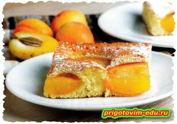 Бисквит с абрикосами «Янтарный»
