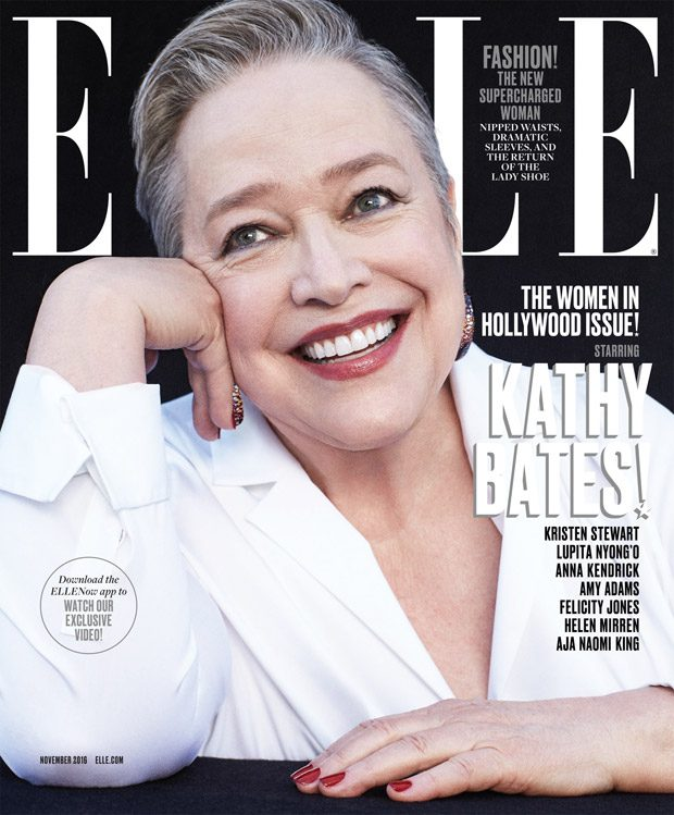 Kathy Bates Styled By Samira Nasr Shirt by Akris. Earrings by De Grisogono .