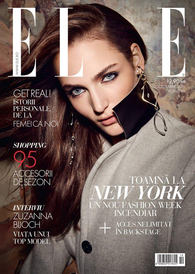 Zuzanna Bijoch Stuns in Louis Vuitton for Elle Romania October Issue