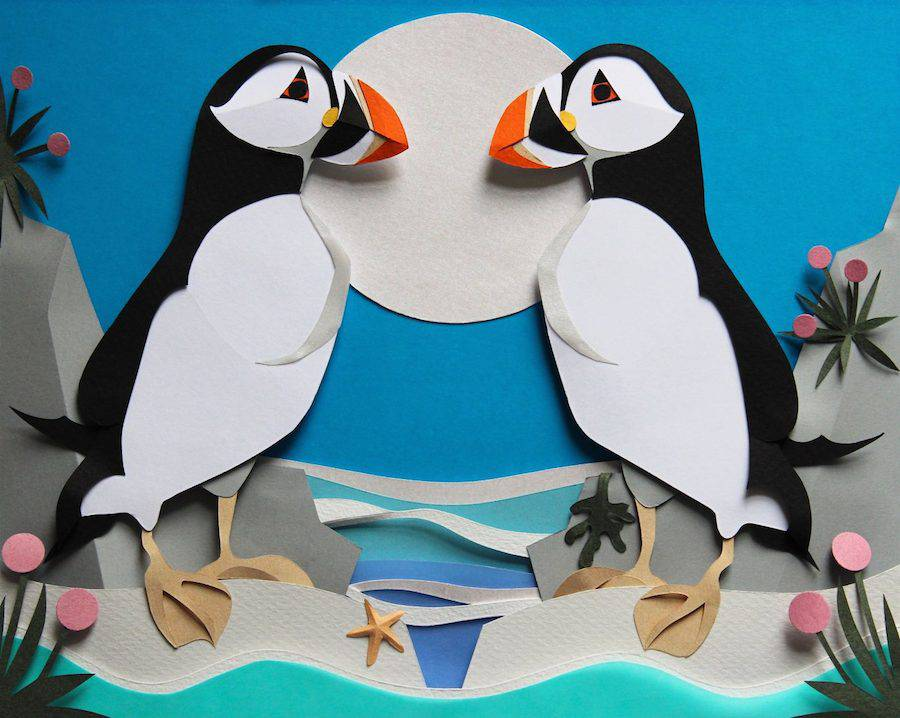 Accurate Wildlife Papercut Compositions (9 pics)
