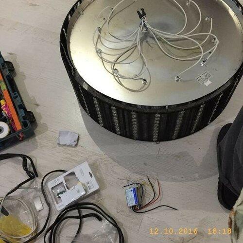 Готовлю светильник барабанного типа к монтажу