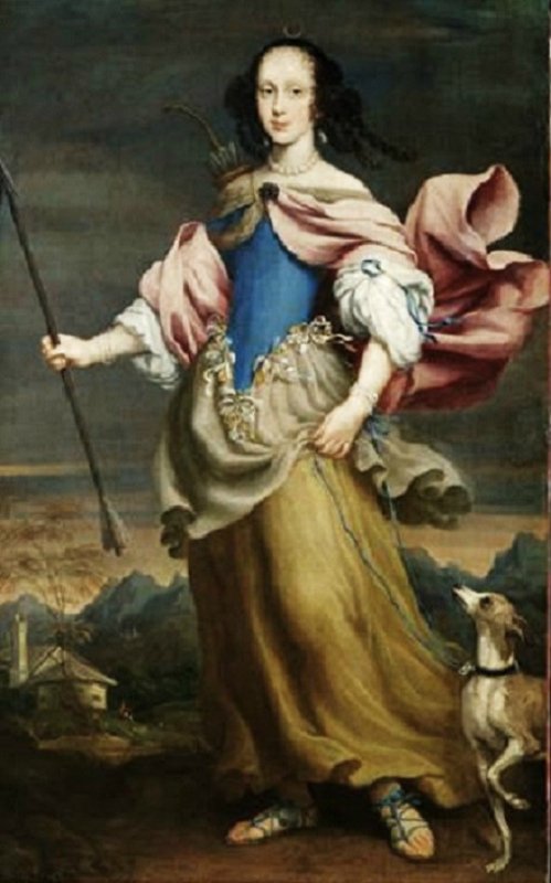 1666 Giovanni Maria Morandi (Italian painter, 1622-1717)  Claudia Felicitas of Austria as Diana,.jpg