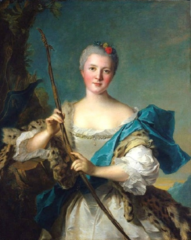 1752 Jean-Marc Nattier (French painter, 1685-1766) Madame de Pompadour as Diana.jpg