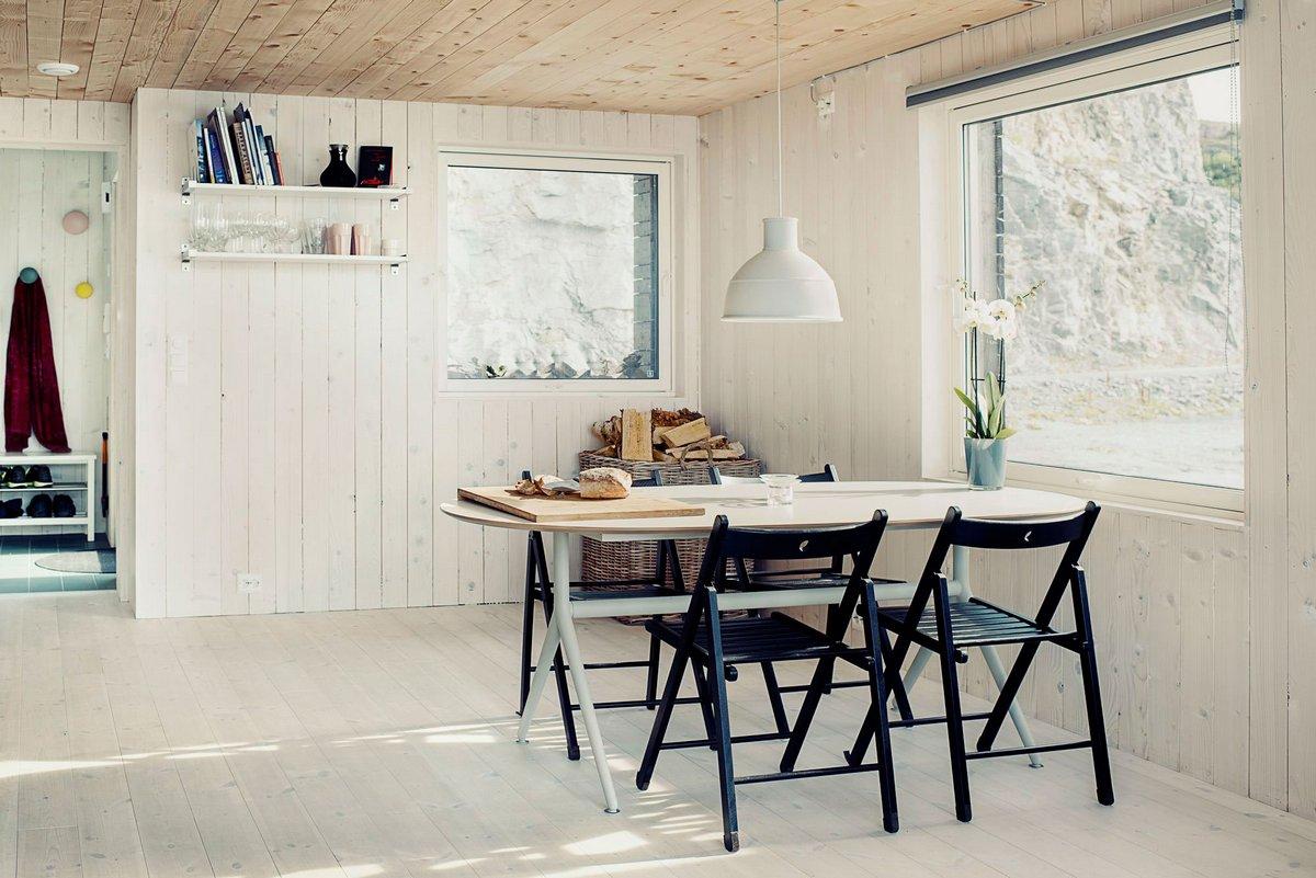 Обеденный стол в норвежском доме