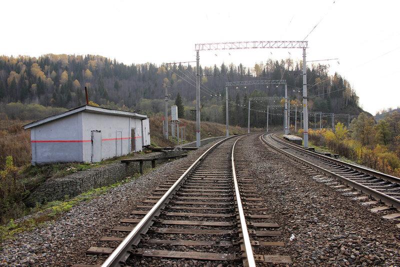 Платформа 1753 км и путейский околоток. Перегон Симская - Биянка