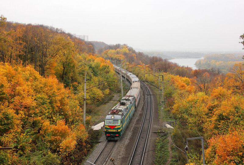 ЧС7-075 с поездом 205 Анапа - Иркутск на перегоне Уфа - Черниковка