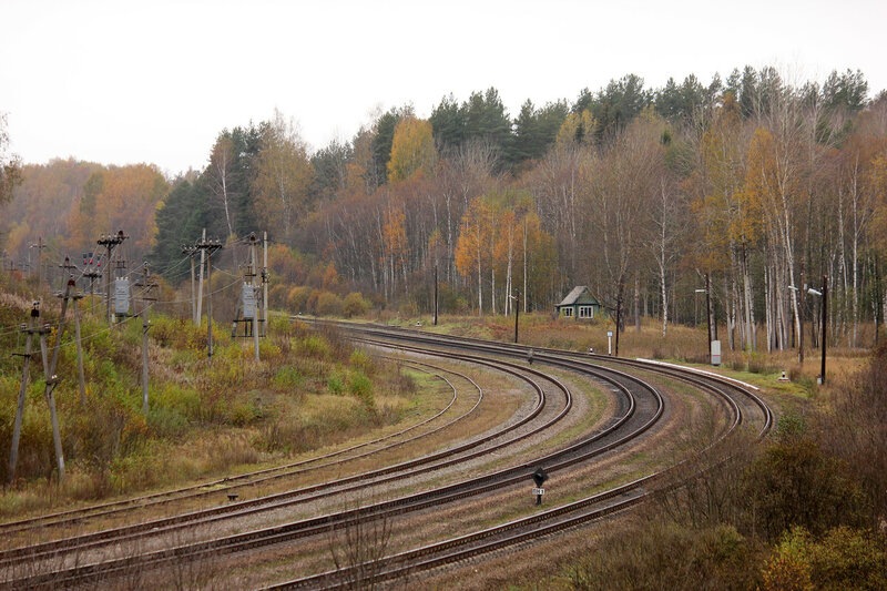 Панорама станции Гарнея, вид на Посинь