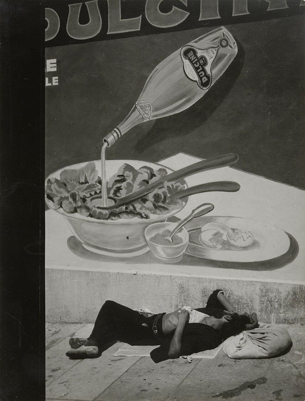 1935. Спящий бродяга в Марселе