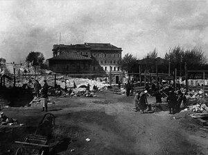 Челябинск. Разбор завалов и вывоз кирпича после сноса Одигитриевского монастыря. 1937