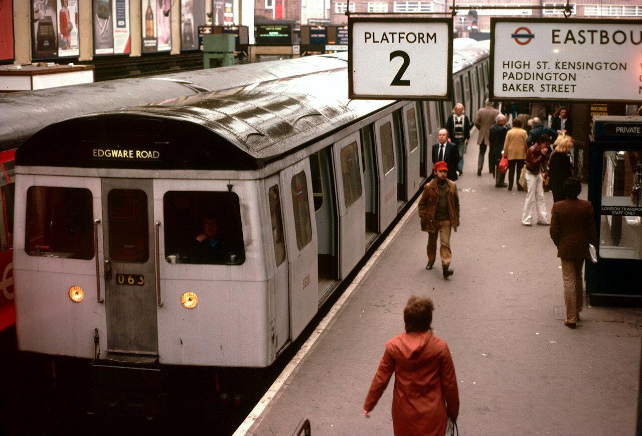 Лондон. Платформа подземки