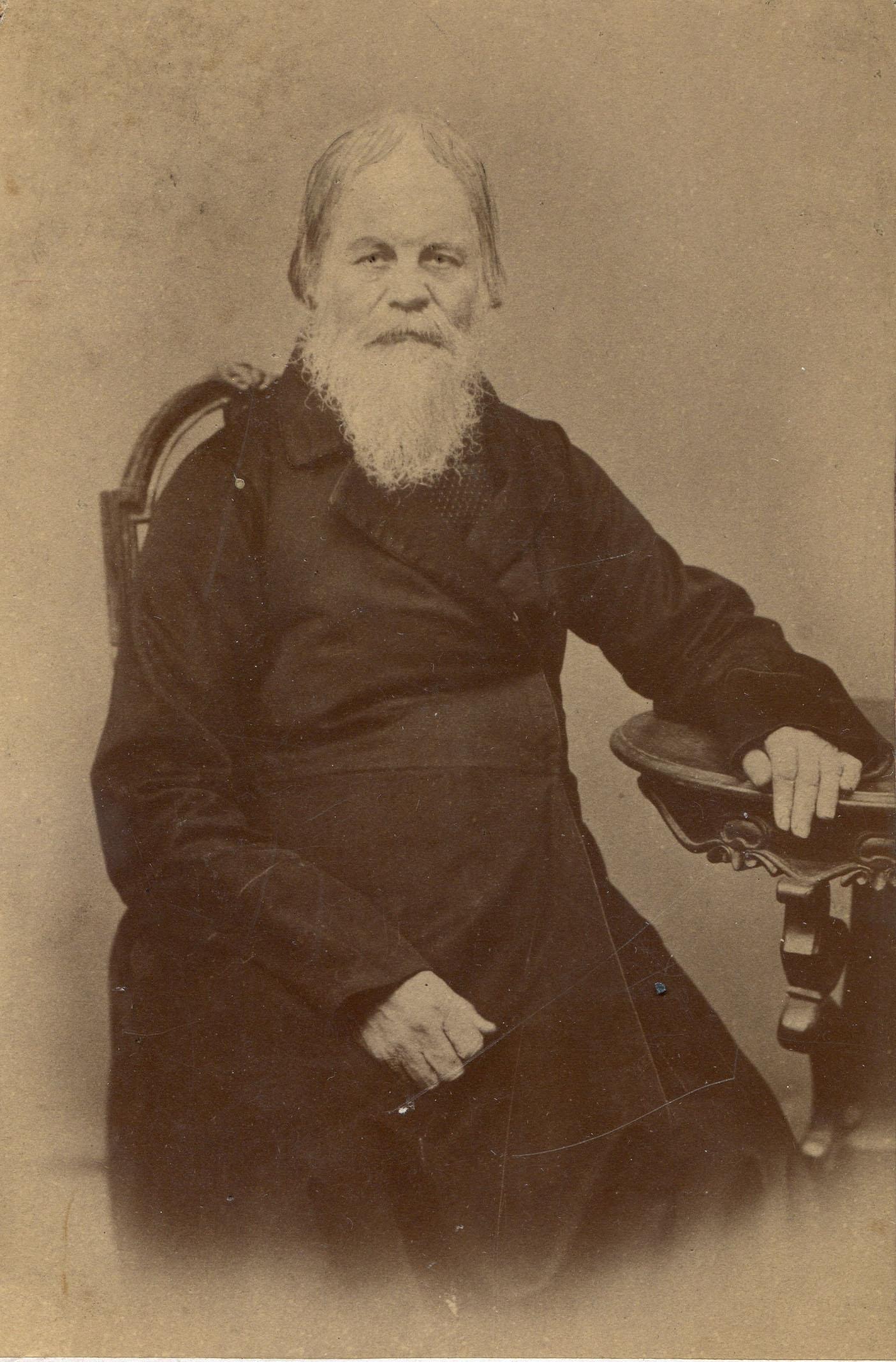 Портрет купца Петра Ивановича Мяздрикова (был городским головой Мурома в 1854-1857 гг.)  1890-е