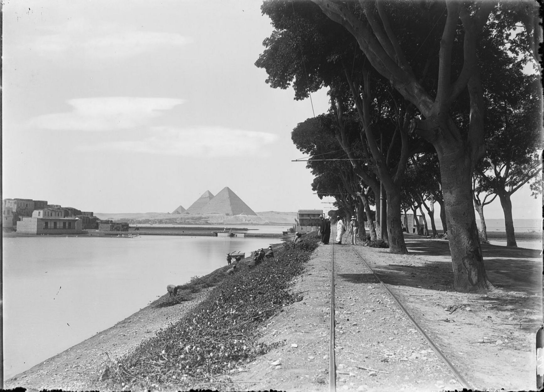 Гиза. Пирамиды. 1910