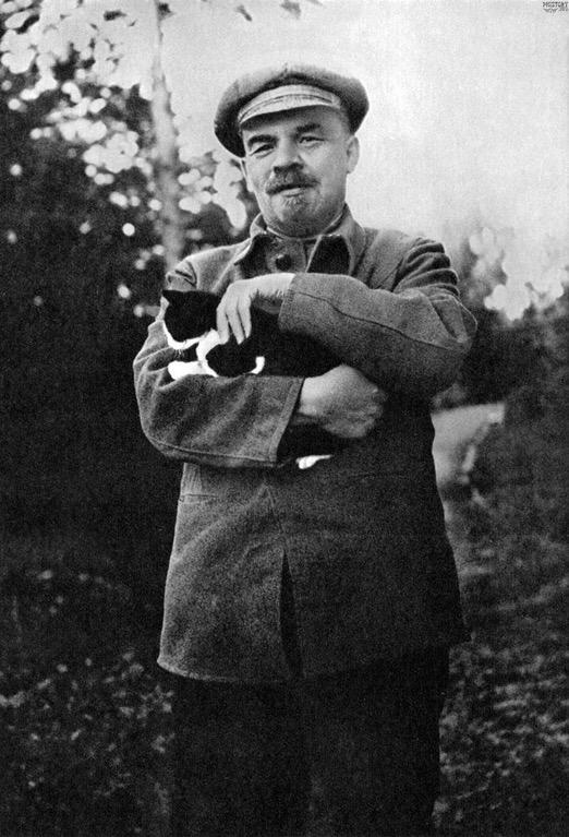 Ленин и Леннон с котом