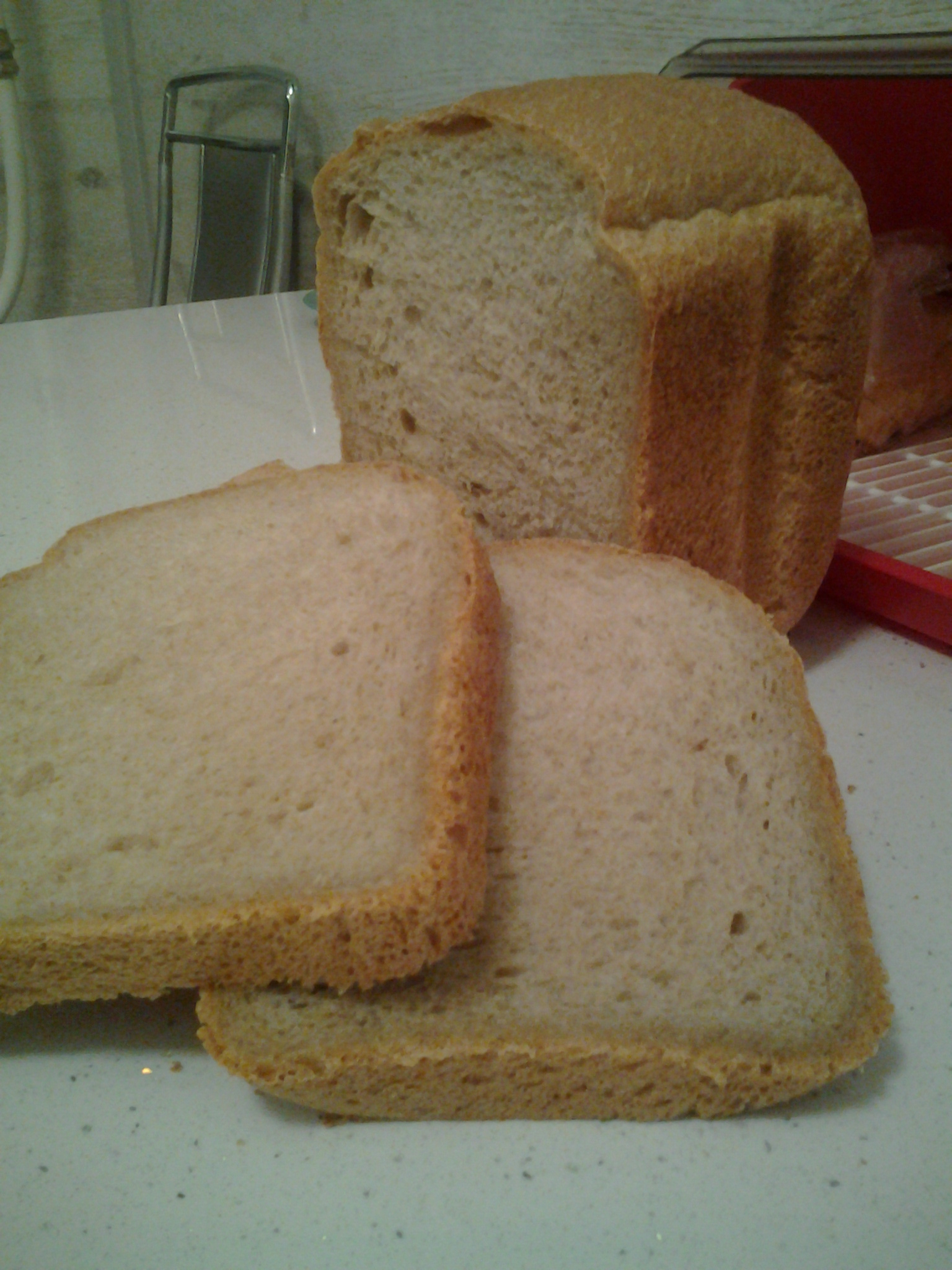 """Хлеб пшенично-ржаной на хмелевой закваске в хлебопечке """"Серенький"""""""