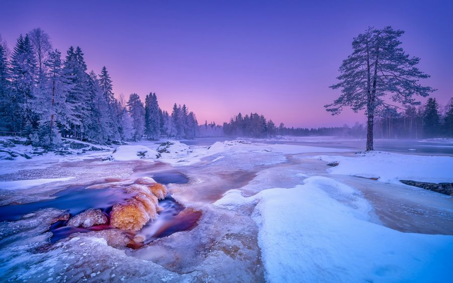 Зимний пейзаж Обои рабочий стол