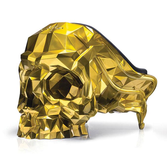 Кресло в форме черепа, студия Harow