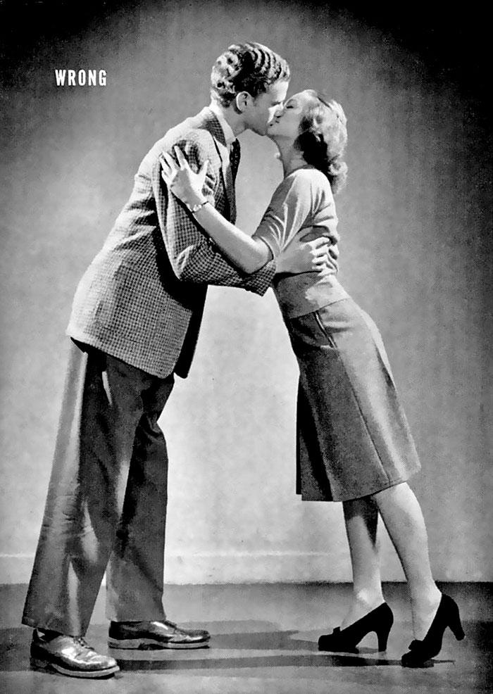 Руководство журнала LIFE 1940-х годов учит, как правильно целоваться (4 фото)