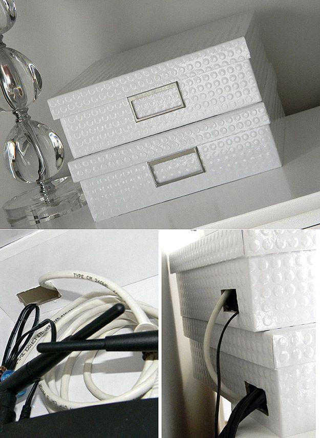 2. Роутер можно спрятать в красивую коробку из-под дорогих туфель.