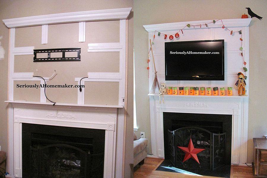 12. Спрячьте провода вот в такие обрамления – тогда ваш телевизор «бесшовно» впишется в дизайн гости