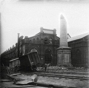 Вагоностроительный завод после урагана 16 июня 1904 года